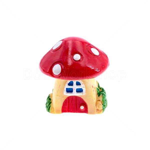 紅色蘑菇屋樹脂裝飾2