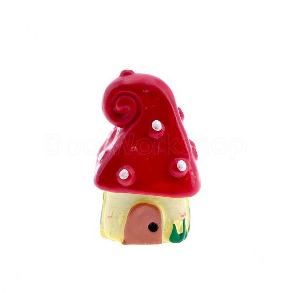 紅色蘑菇屋樹脂裝飾3