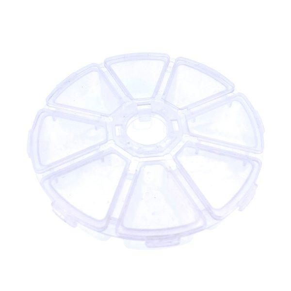 8格圓型透明分裝盒