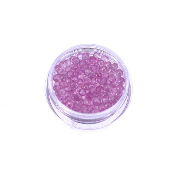透明粉紅氣泡珠