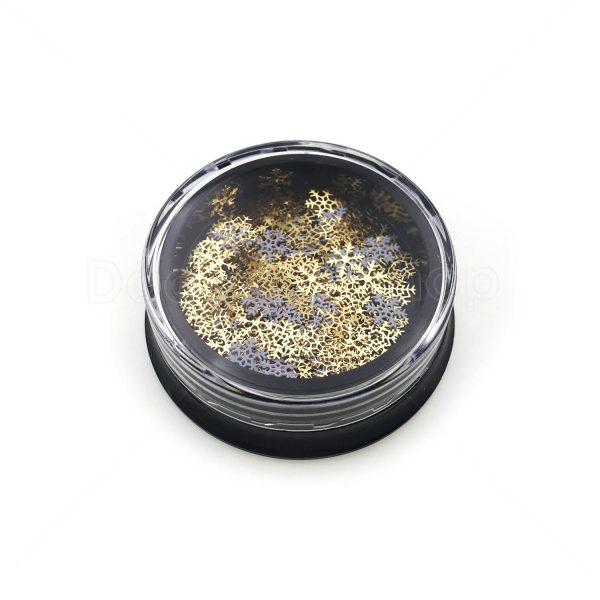 滴膠UV膠金屬封入物-聖誕雪花閃片