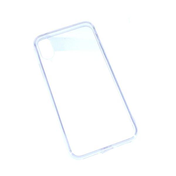 iPhone X/XS透明硬底軟邊凹槽滴膠電話殼