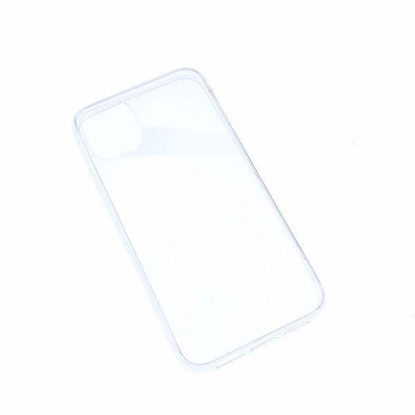 iPhone 11透明硬底軟邊凹槽滴膠電話殼