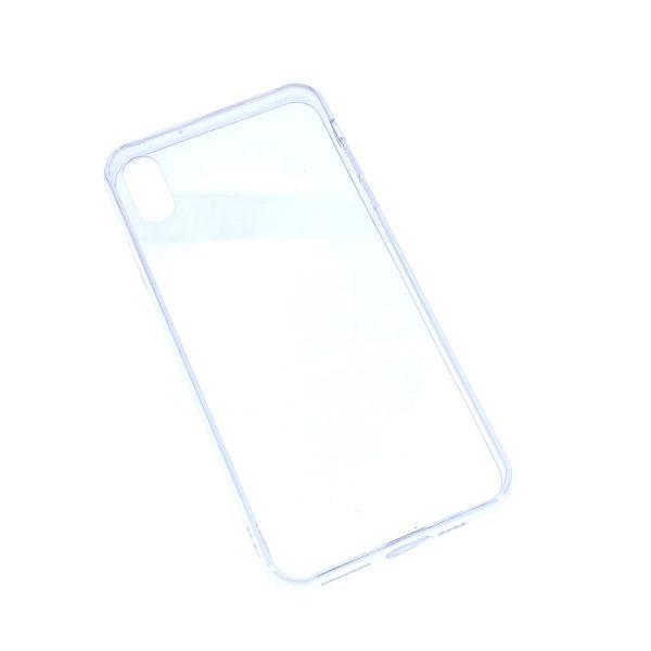 iPhone XS Max透明硬底軟邊凹槽滴膠電話殼
