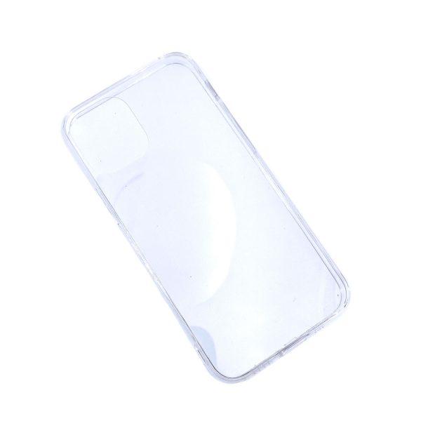 iPhone 12透明硬底軟邊凹槽滴膠電話殼