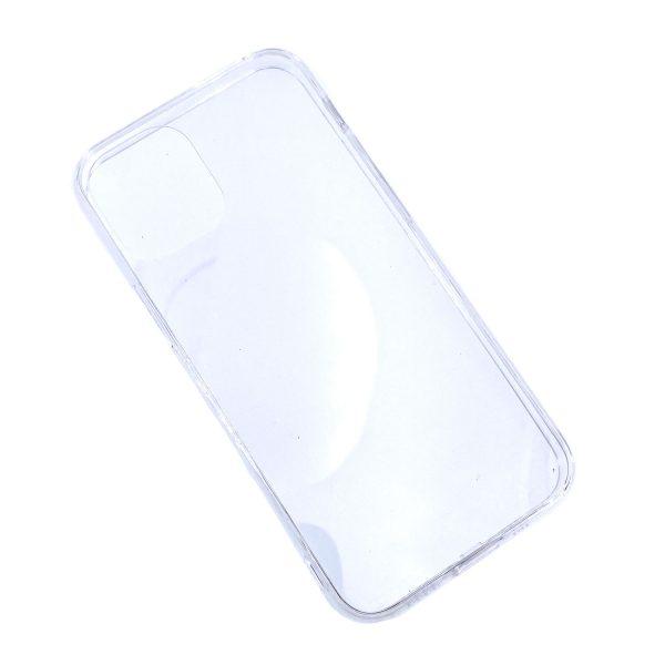 iPhone 12 Pro Max透明硬底軟邊凹槽滴膠電話殼