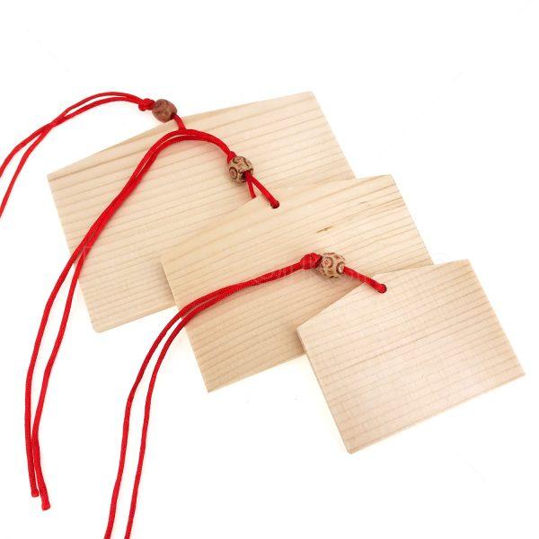 日本繪馬祈福木掛牌