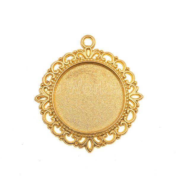 金色花邊圓型底托