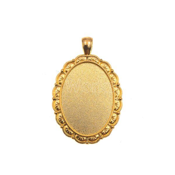 金色橢圓型滴膠底托