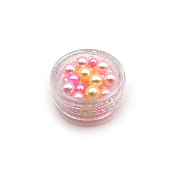 混粉色仿珍珠3-5mm