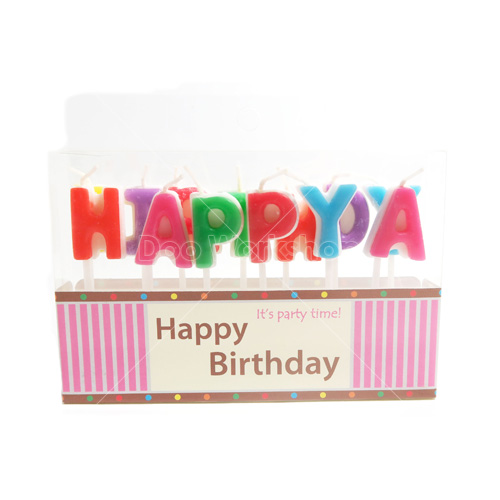 HAPPY BIRTHDAY字母生日快樂蠟燭套裝