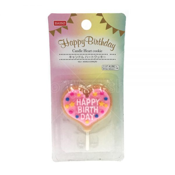 HAPPY BIRTHDAY 心型生日快樂蠟燭牌
