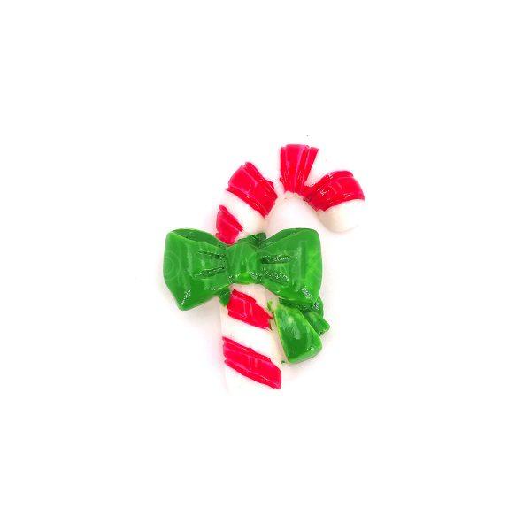 聖誕綠色蝴蝶結士的樹脂裝飾