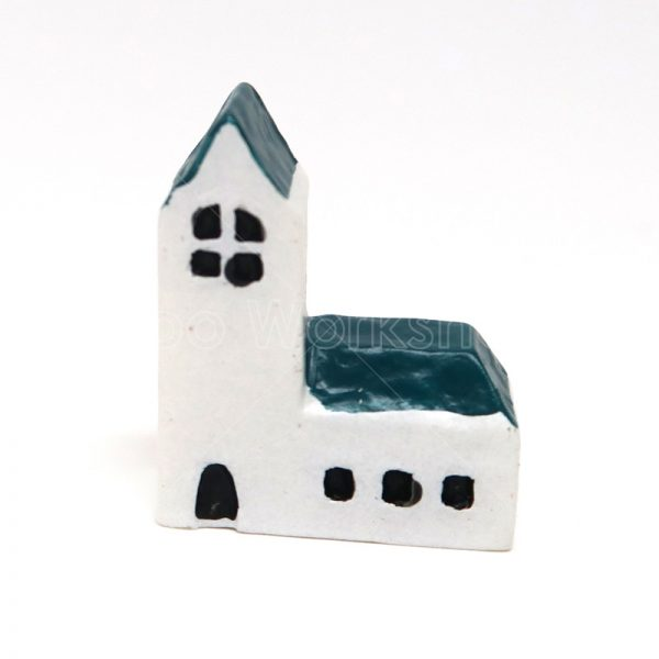 教堂樹脂擺件