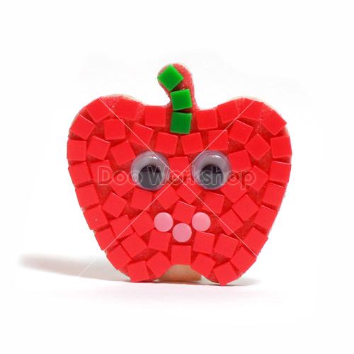 馬賽克小蘋果木夾DIY材料包