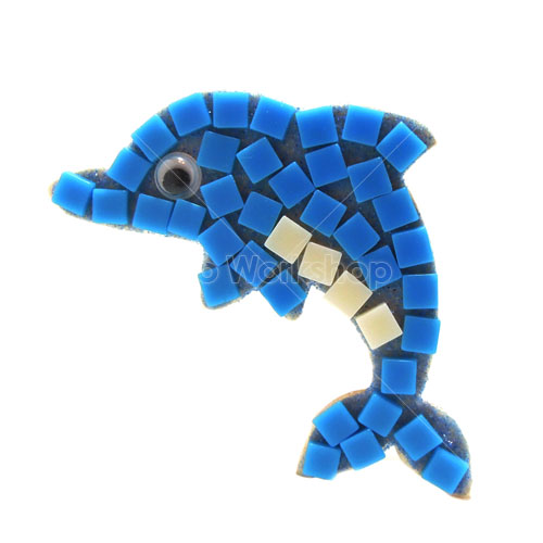 馬賽克海豚小木夾DIY材料包