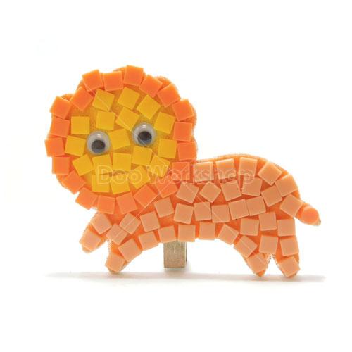 馬賽克獅子小木夾DIY材料包