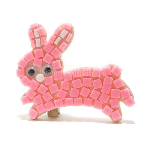 馬賽克兔仔小木夾diy材料包