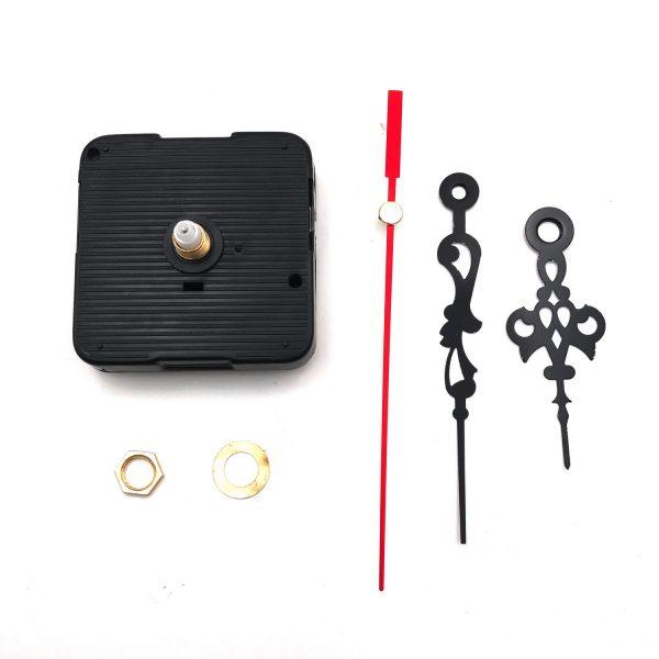 DIY時鐘掃描機芯-紅黑秒針125mm 分針90mm 時針65mm