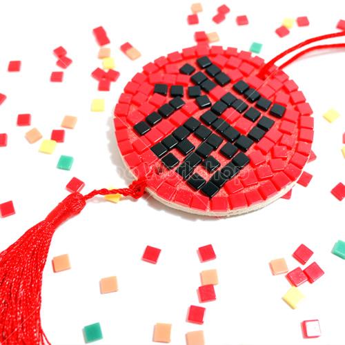 新年福字馬賽克掛飾DIY材料包