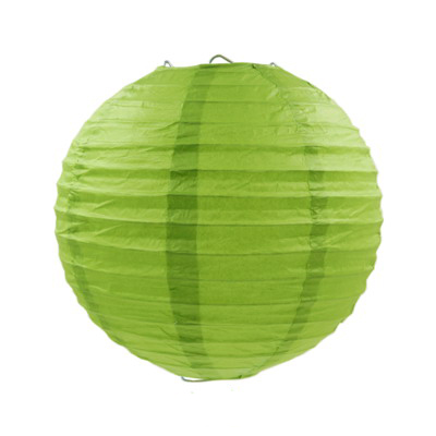 綠色紙燈籠20CM