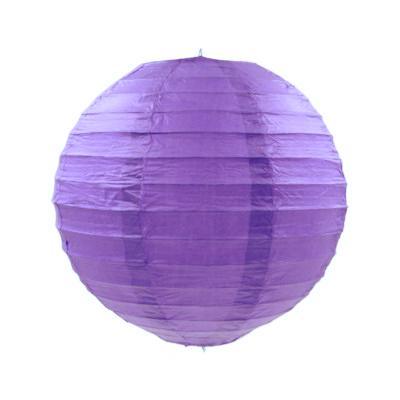 深紫色紙燈籠20CM