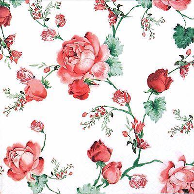 Decoupage蝶古巴特紙巾-紅色玫瑰