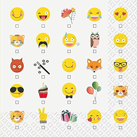 Decoupage蝶古巴特紙巾-Emoji