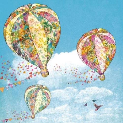 Decoupage蝶古巴特紙巾-熱氣球
