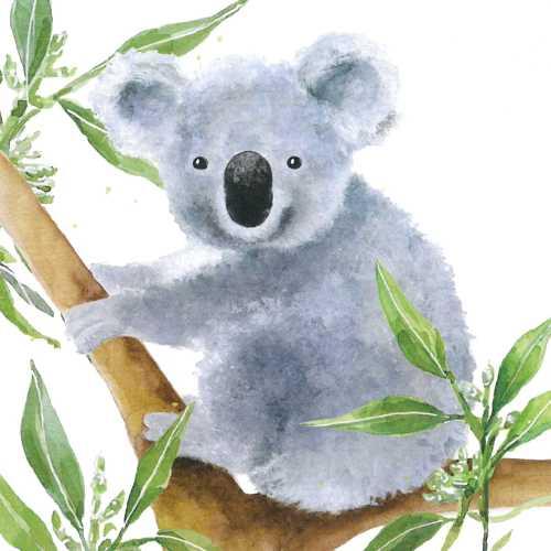 Decoupage蝶古巴特紙巾-樹熊