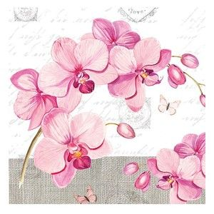 Decoupage蝶古巴特餐巾/餐紙/紙巾-蘭花