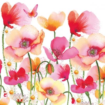 Decoupage蝶古巴特紙巾-紅花