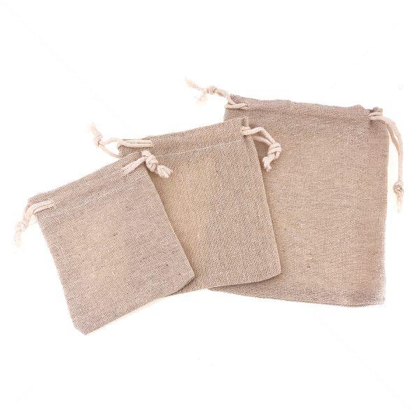 麻質棉布索繩束口袋