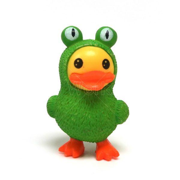 鴨仔扮青蛙樹脂擺件