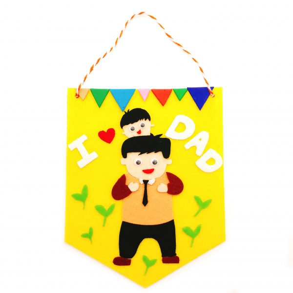 父親節不織布小錦旗DIY材料包-黃色
