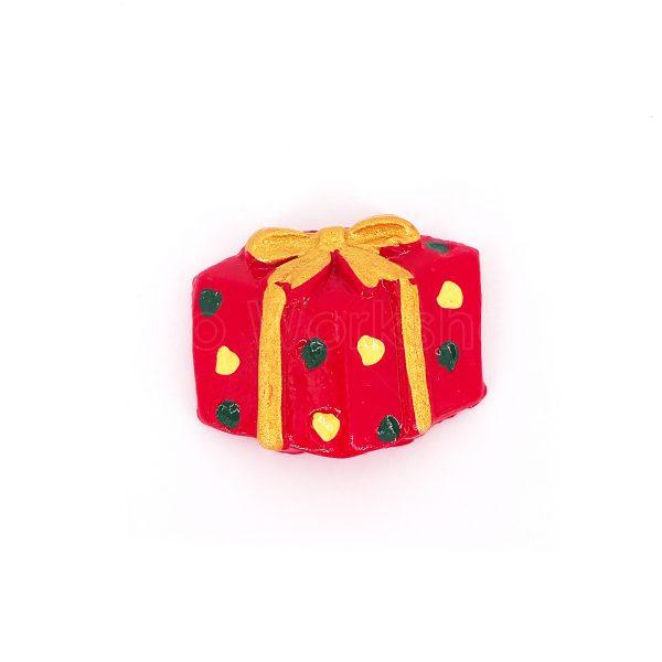 黃綠小波點聖誕禮物樹脂裝飾