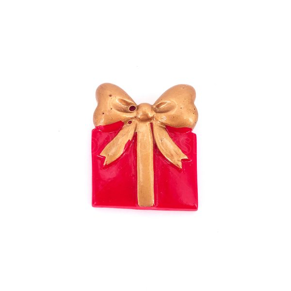 金色蝴蝶結聖誕禮物樹脂裝飾
