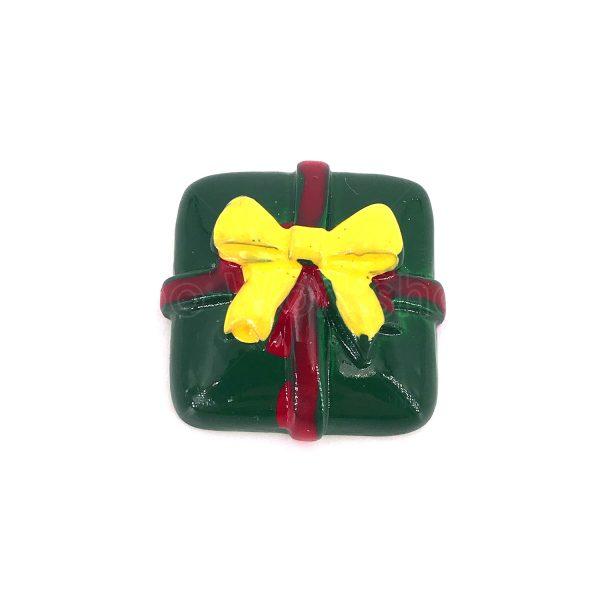 綠色聖誕禮物樹脂裝飾