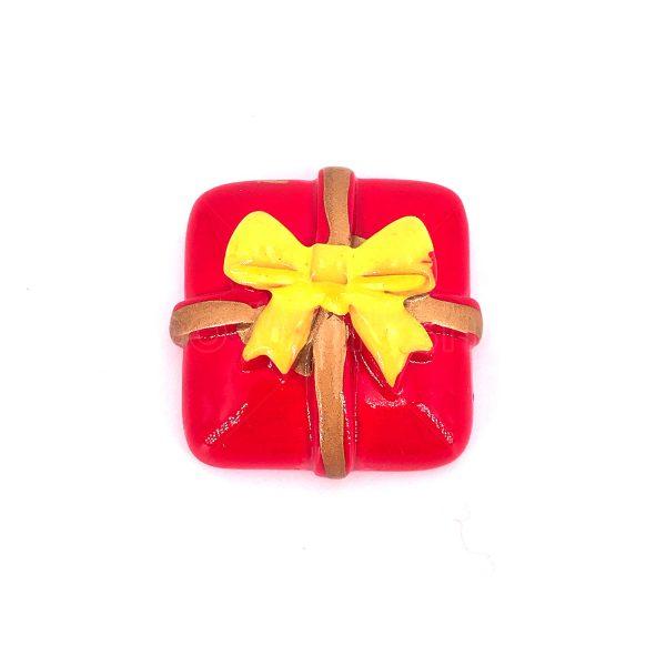紅色聖誕禮物樹脂裝飾
