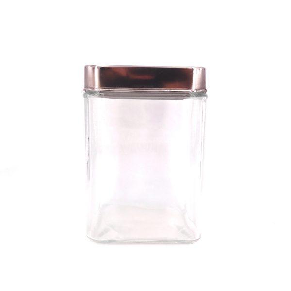 方形銀蓋玻璃瓶