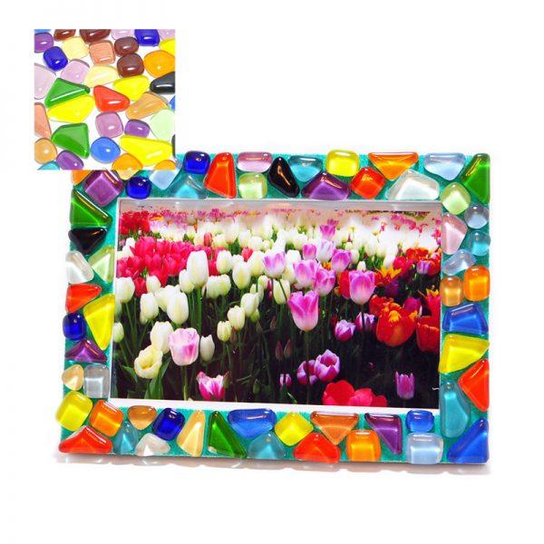 水晶馬賽克彩沙相架DIY材料包-5款顏色