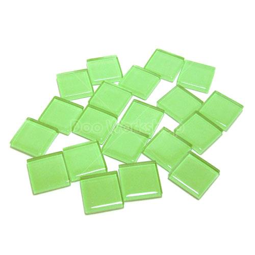 青綠正方形水晶馬賽克10MM/20MM