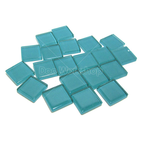 湖水綠正方水晶馬賽克10MM/20MM