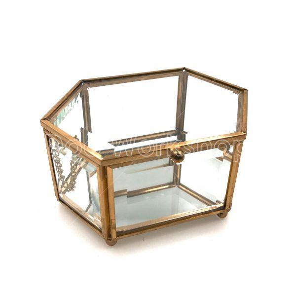 六邊形玻璃首飾盒