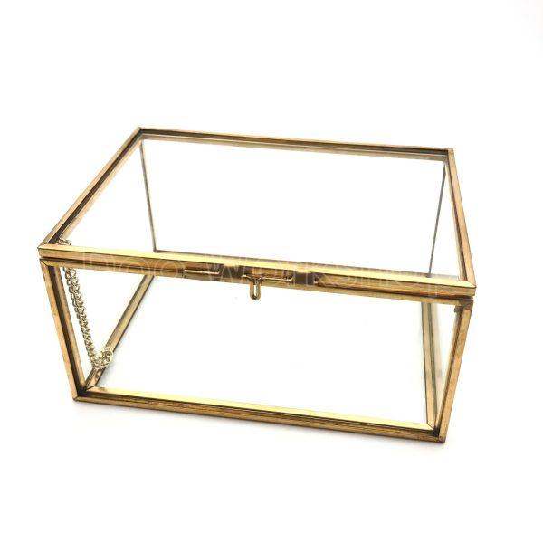 長方形玻璃首飾盒