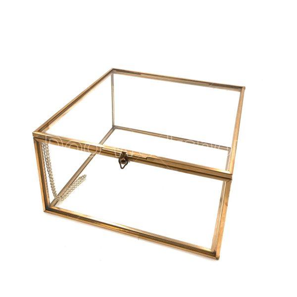 正方形玻璃首飾盒