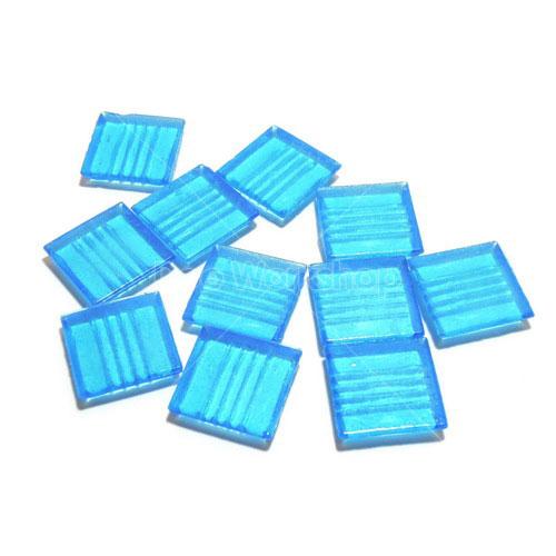 藍色透明馬賽克