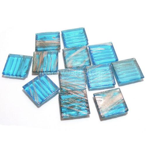 藍色透明金線馬賽克