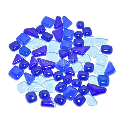 不規則圓角水晶馬賽克-藍混色