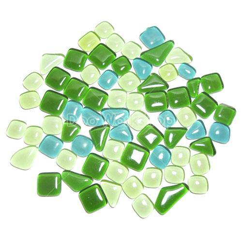 不規則圓角水晶馬賽克-混綠色